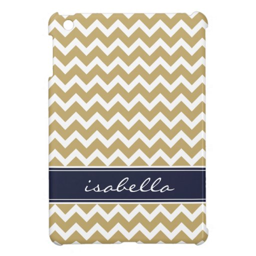 Gold and Navy Blue Chevron Custom Monogram Cover For The ... Gold And Navy Chevron Wallpaper