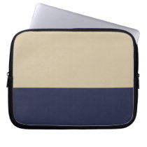 Gold and Navy Neoprene Computer Sleeve