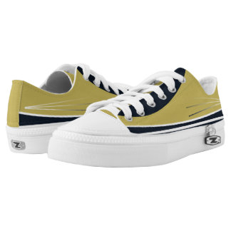Gold and Navy with White Trim Tres Lo-Tops Printed Shoes
