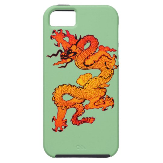 Gold and Orange Dragon for Chinese New Year iPhone SE/5/5s Case