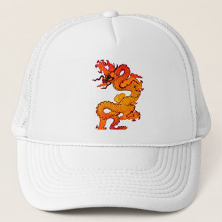 Gold and Orange Dragon for Chinese New Year Trucker Hat