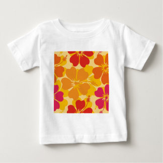 Gold and Orange Flowers Baby T-Shirt