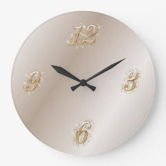 Gold and Pearl Wall Clock