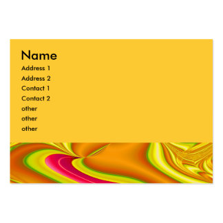 gold and pink abstract business card