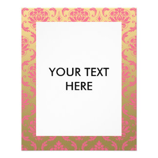 Gold and Pink Classic Damask Flyer