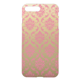 Gold and Pink Classic Damask iPhone 7 Plus Case