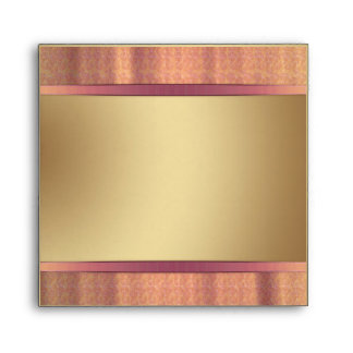 Gold and pink Envelopes