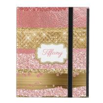 Gold and Pink Glitz iPad Case