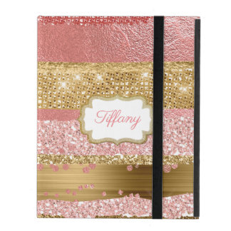 Gold and Pink Glitz iPad Case