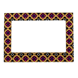 Gold and Pink Holiday Bling Magnetic Frame