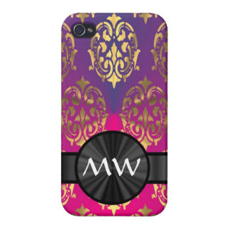 Gold and pink purple iPhone 4/4S cover