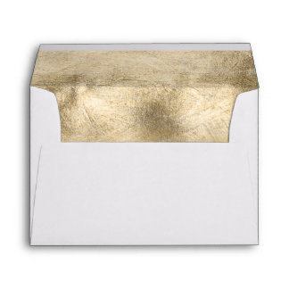 Gold and pink watercolor wedding design envelope