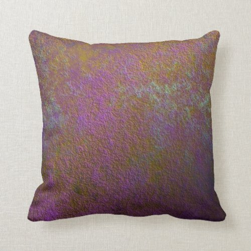 Gold and purple abstract design throw pillow