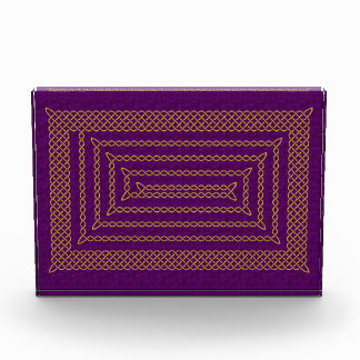 Gold And Purple Celtic Rectangular Spiral Award