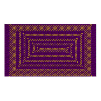 Gold And Purple Celtic Rectangular Spiral Double-Sided Standard Business Cards (Pack Of 100)