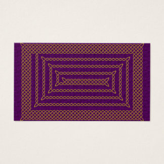 Gold And Purple Celtic Rectangular Spiral Business Card