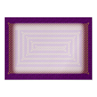 Gold And Purple Celtic Rectangular Spiral Card
