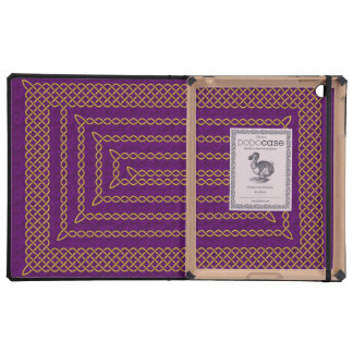 Gold And Purple Celtic Rectangular Spiral Covers For iPad