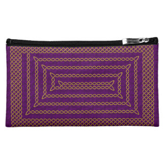 Gold And Purple Celtic Rectangular Spiral Cosmetic Bag