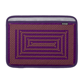 Gold And Purple Celtic Rectangular Spiral Sleeve For MacBook Air