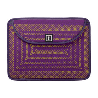 Gold And Purple Celtic Rectangular Spiral Sleeve For MacBooks