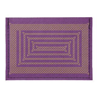 Gold And Purple Celtic Rectangular Spiral Tyvek® Card Case Wallet
