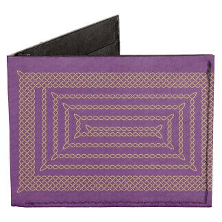Gold And Purple Celtic Rectangular Spiral Tyvek Wallet