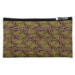 Gold And Purple Celtic Spiral Knots Pattern Cosmetic Bag