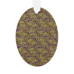 Gold And Purple Celtic Spiral Knots Pattern Ornament