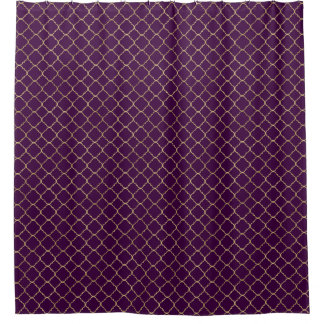 Purple And Gold Shower Curtains Zazzle