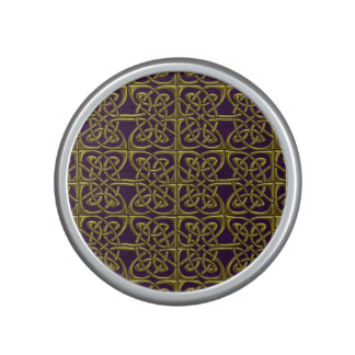Gold And Purple Connected Ovals Celtic Pattern Bluetooth Speaker
