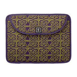 Gold And Purple Connected Ovals Celtic Pattern Sleeves For MacBooks