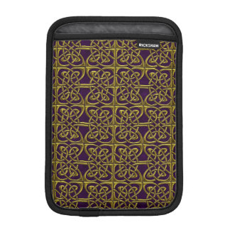 Gold And Purple Connected Ovals Celtic Pattern Sleeve For iPad Mini