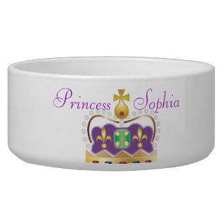 Gold and Purple Crown Bowl
