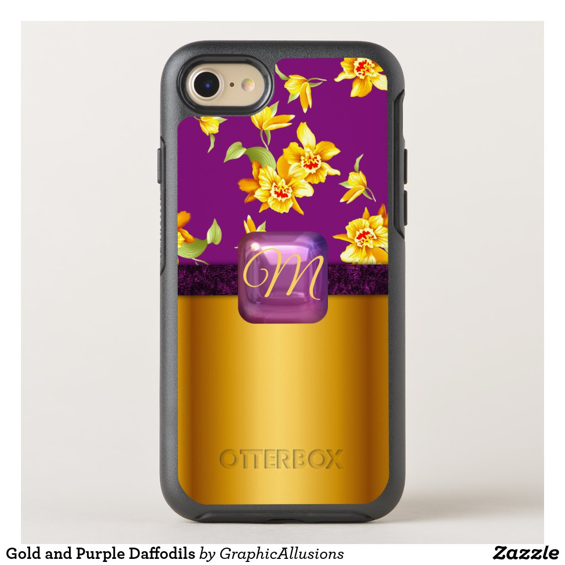 Gold and Purple Daffodils OtterBox iPhone Case