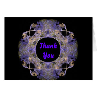 Gold and Purple Double Rectangle Fractal Art Card