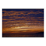 Gold and Purple Evening Sky Print