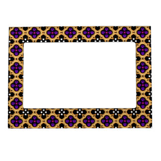 Gold and Purple Holiday Bling Magnetic Frame