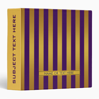 Gold and Purple Personalized Binder