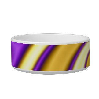 gold and purple spiraling abstract bowl