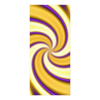 gold and purple spiraling abstract rack card