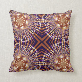 Gold and Purple Stripe Fractal American MoJo Pillo Pillow