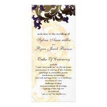 gold and purple Wedding program