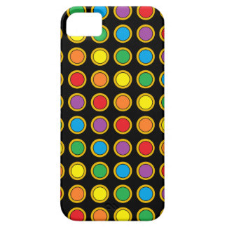 Gold and Rainbow Polk Dots iPhone Case