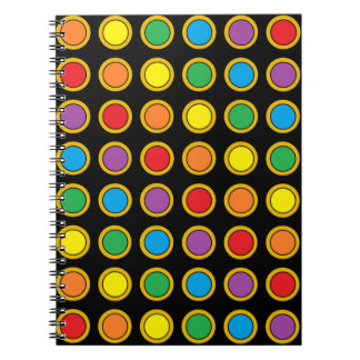 Gold and Rainbow Polk Dots Notebook