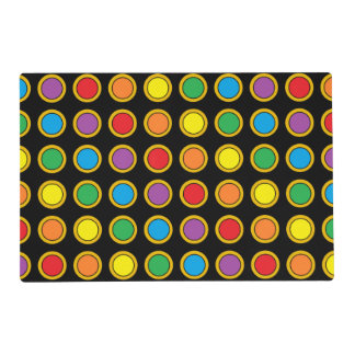 Gold and Rainbow Polk Dots Placemat