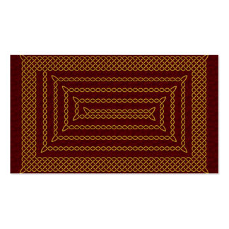 Gold And Red Celtic Rectangular Spiral Double-Sided Standard Business Cards (Pack Of 100)