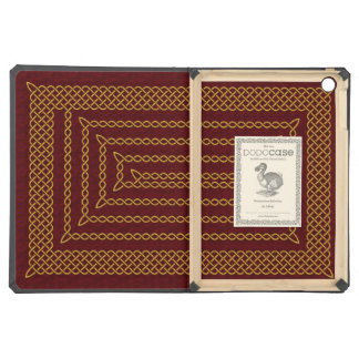 Gold And Red Celtic Rectangular Spiral iPad Air Cover