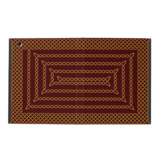 Gold And Red Celtic Rectangular Spiral iPad Covers