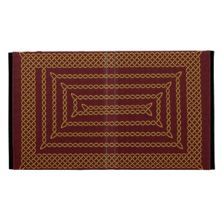 Gold And Red Celtic Rectangular Spiral iPad Folio Covers
